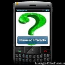 Número privado en telefonía
